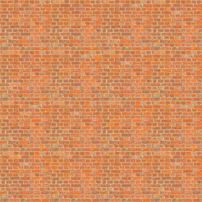 Parede de tijolo vermelho resistida velha sem emenda fotos de stock royalty free