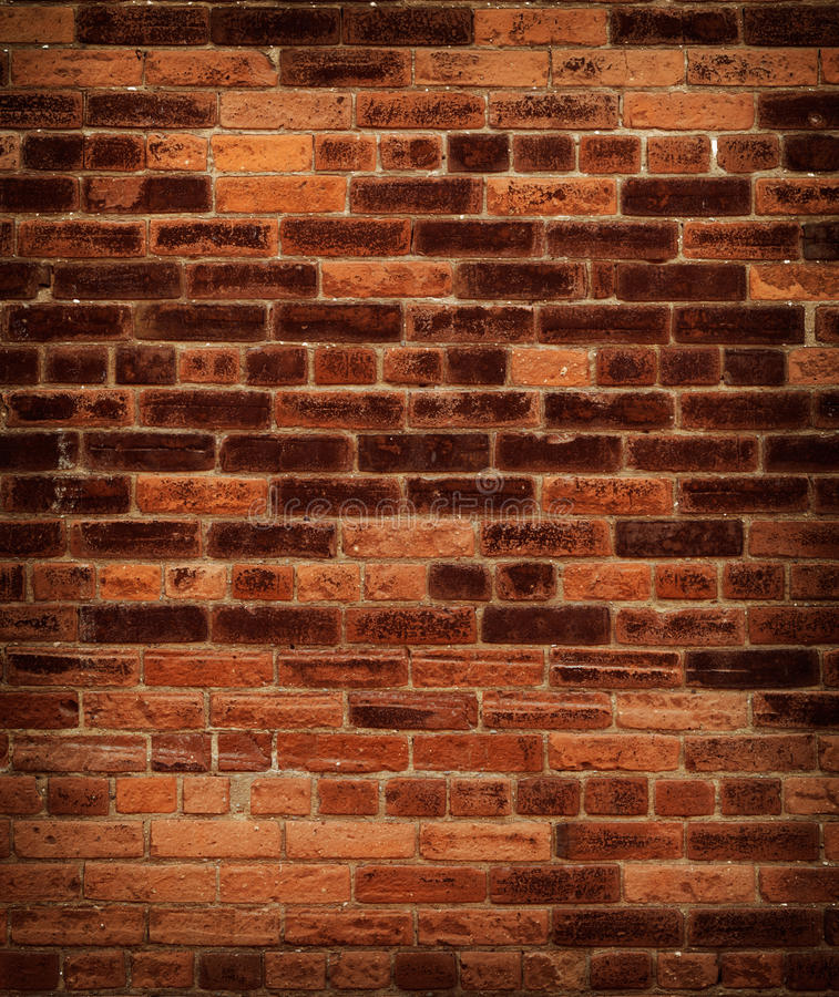 Parede de tijolo vermelho velha imagens de stock royalty free