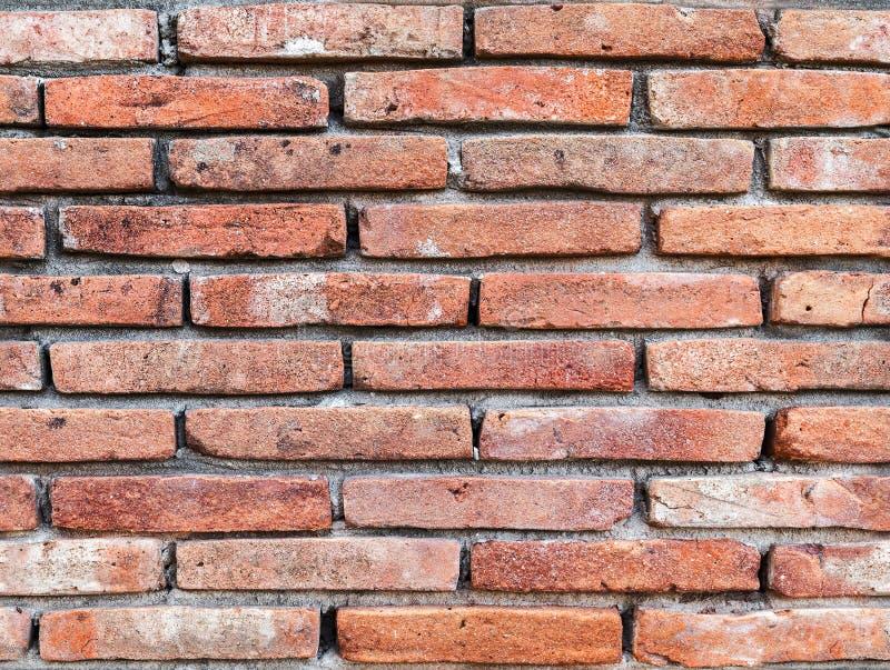 Parede de tijolo vermelho velha, textura sem emenda do fundo fotos de stock royalty free