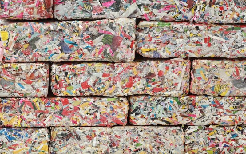 Parede de tijolos de papel fotografia de stock