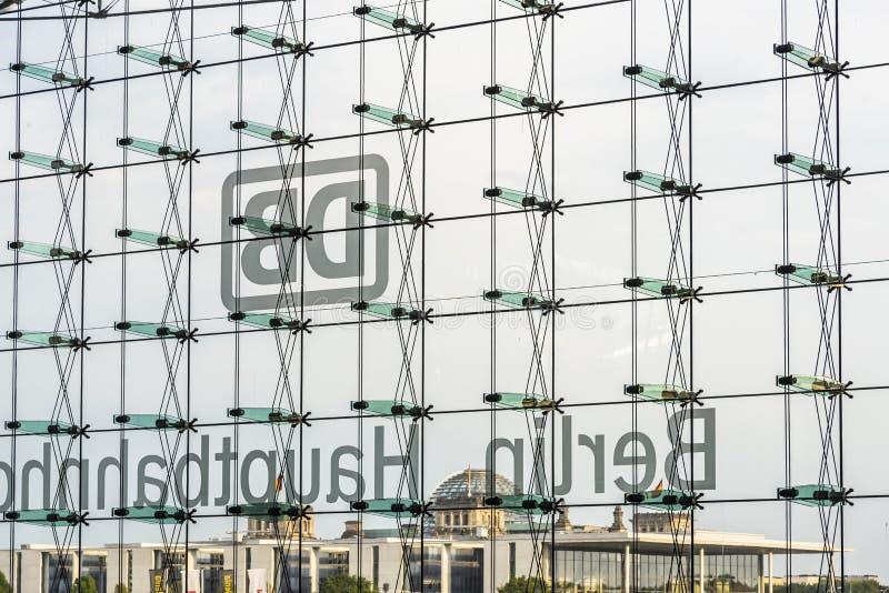 Parede de vidro no hauptbahnhof Alemanha de Berlim imagem de stock royalty free