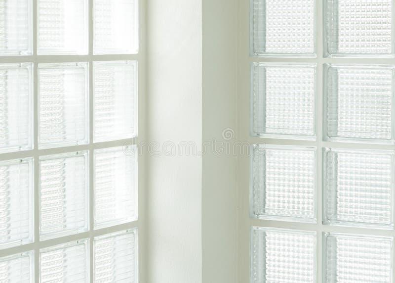 Parede de vidro quadrada imagens de stock