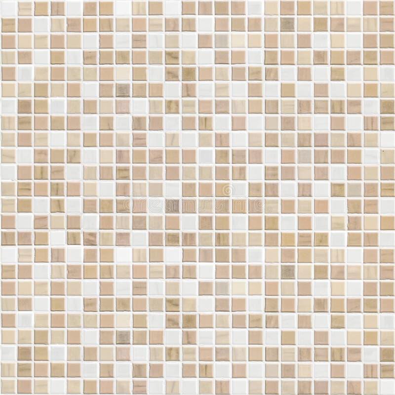 Parede delicada da telha de mosaico do marrom da cor fotos de stock royalty free