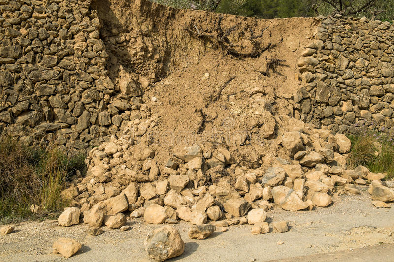 Parede desintegrada da disputa foto de stock royalty free