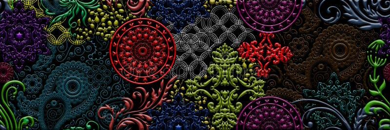 A parede digital Multicolour, colorida telha o projeto para interior ou as telhas caremic projetam imagem de stock