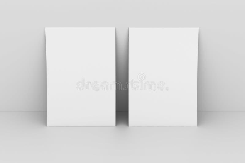 Parede do againstwhite do papel em branco ilustração royalty free