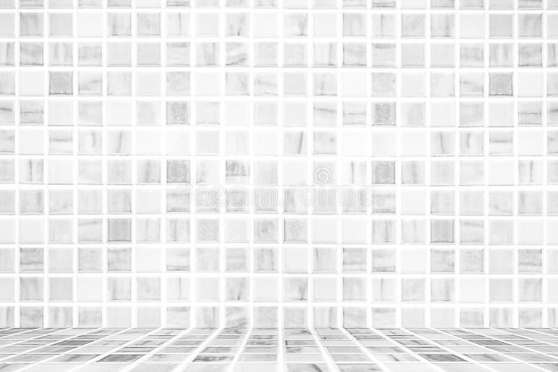 Parede parede do azulejo/azulejo brancos do vintage, fundo da parede do banheiro do projeto da casa foto de stock