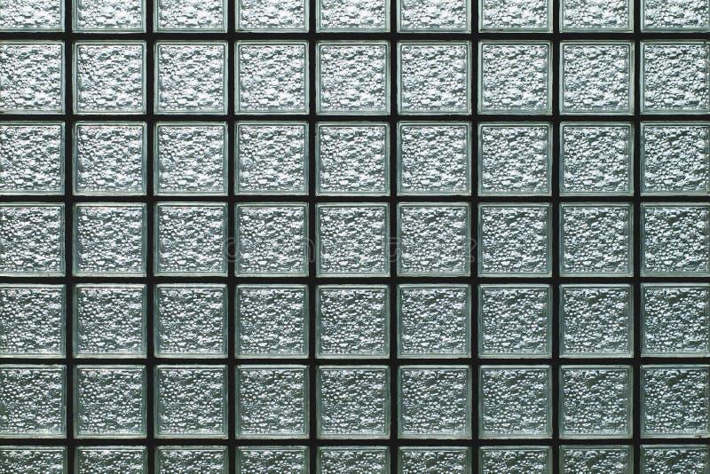 Parede do bloco de vidro imagem de stock
