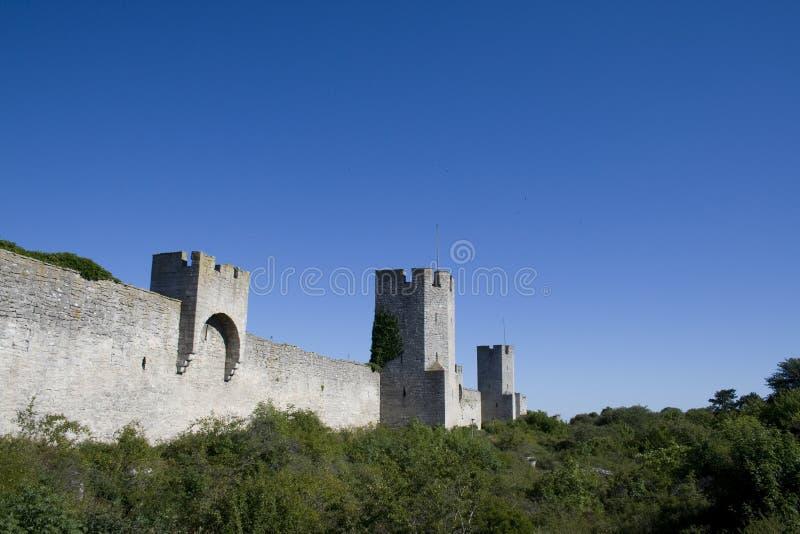 Parede do castelo fotografia de stock royalty free
