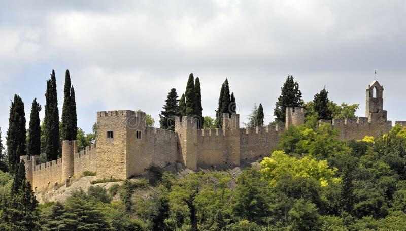 Parede do castelo em Portugal fotografia de stock royalty free
