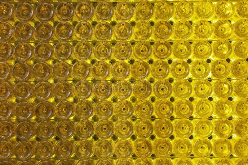 Parede do frasco de vinho fotografia de stock