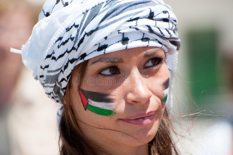 Parede do Israeli do protesto dos activistas fotografia de stock royalty free