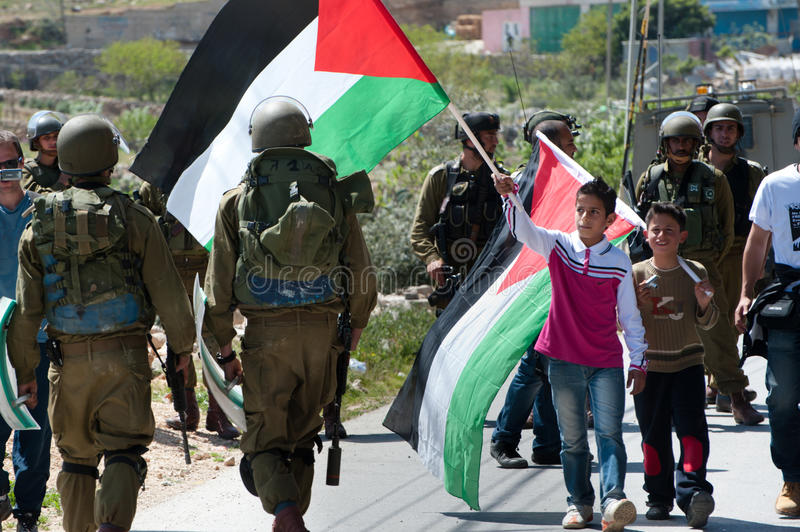 Parede do Israeli do protesto dos palestinos imagem de stock royalty free