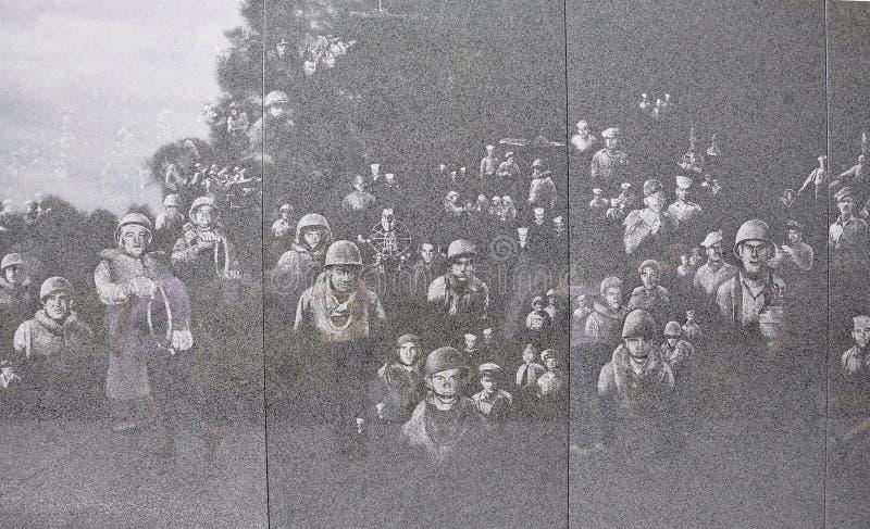Parede do memorial de Guerra da Coreia de Washington District de Colômbia imagens de stock