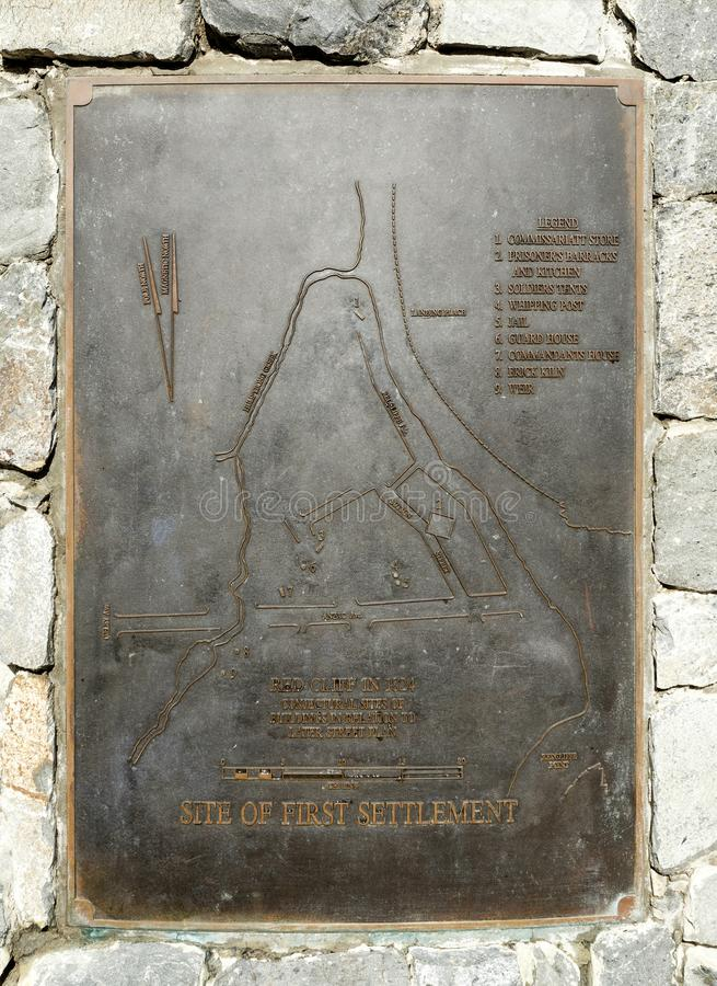 Parede do memorial do pagamento de Redcliffe - de Fisrt foto de stock royalty free