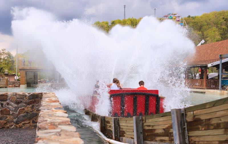 Parede do parque de diversões de Pensilvânia da água fotografia de stock