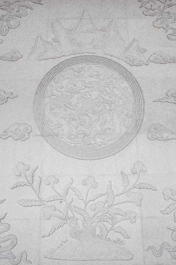 Parede do templo de China foto de stock royalty free