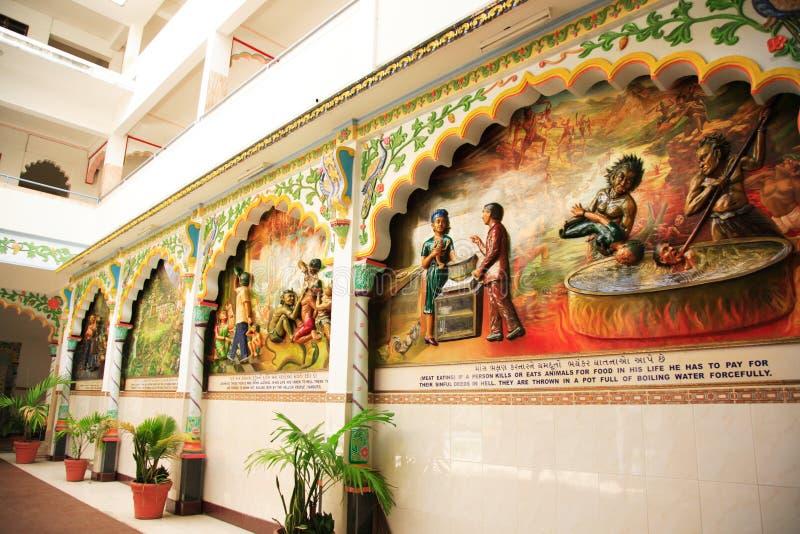 Parede do templo indiano imagem de stock royalty free