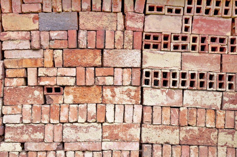 Parede do teste padrão dos tijolos imagens de stock royalty free