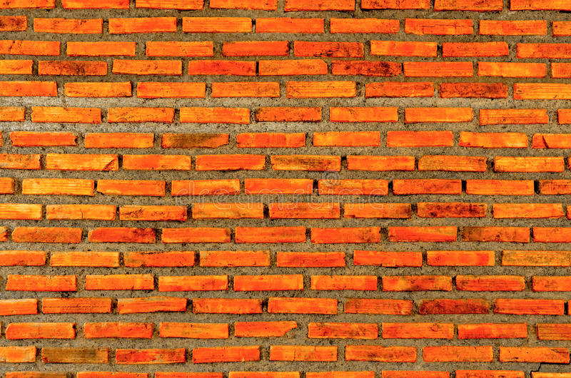 A parede do tijolo e do fundo do tijolo, tijolo vermelho e teste padrão do fundo da parede de tijolo fotografia de stock royalty free