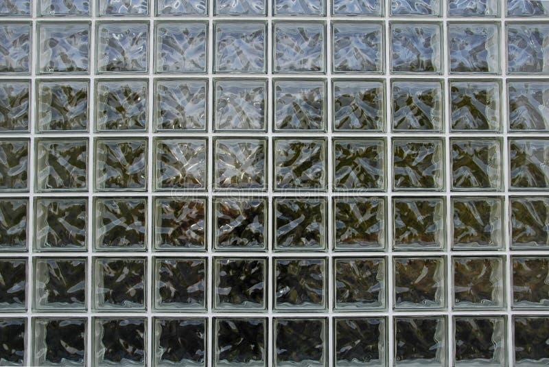 Parede dos blocos de vidro fotos de stock
