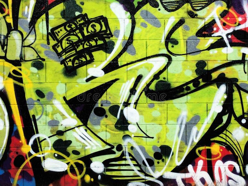 Parede dos grafittis imagem de stock