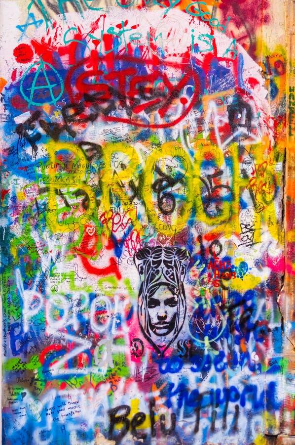 A parede dos lennon de John foto de stock royalty free