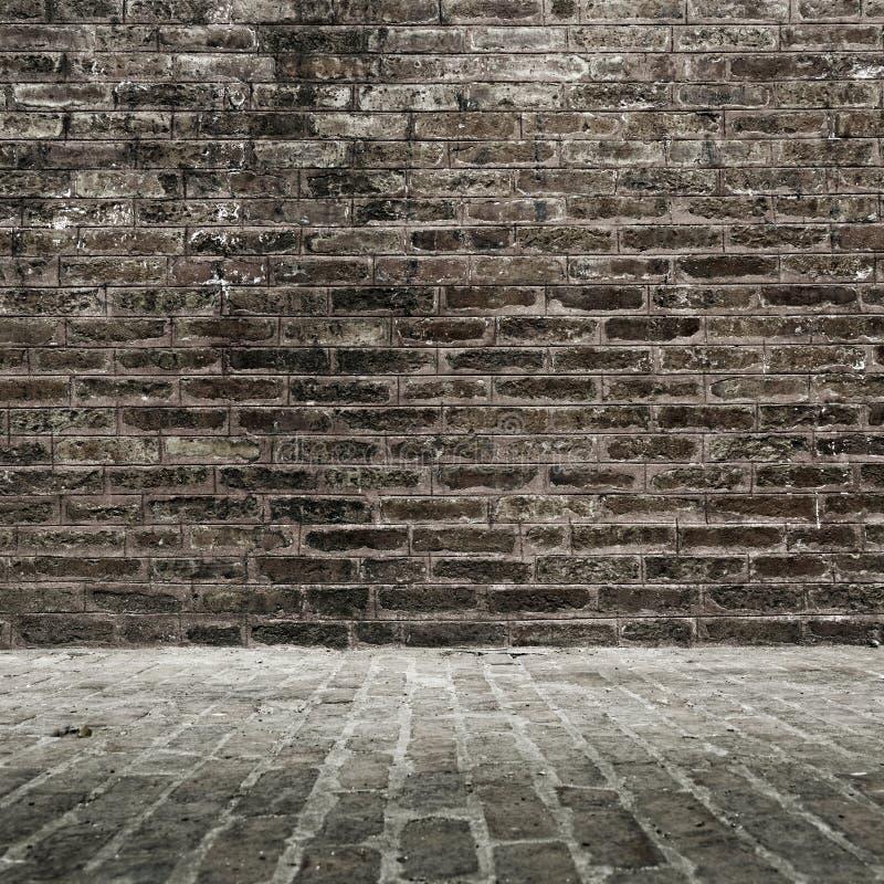 Parede e assoalho de tijolo foto de stock royalty free