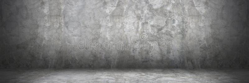 parede e assoalho horizontais do cimento com sombra para o teste padrão e o CCB foto de stock