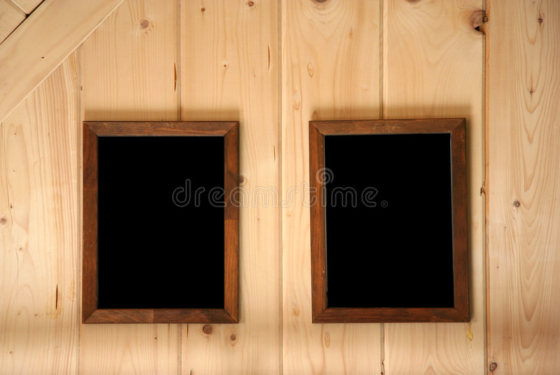 Parede e frames do Paneling imagem de stock