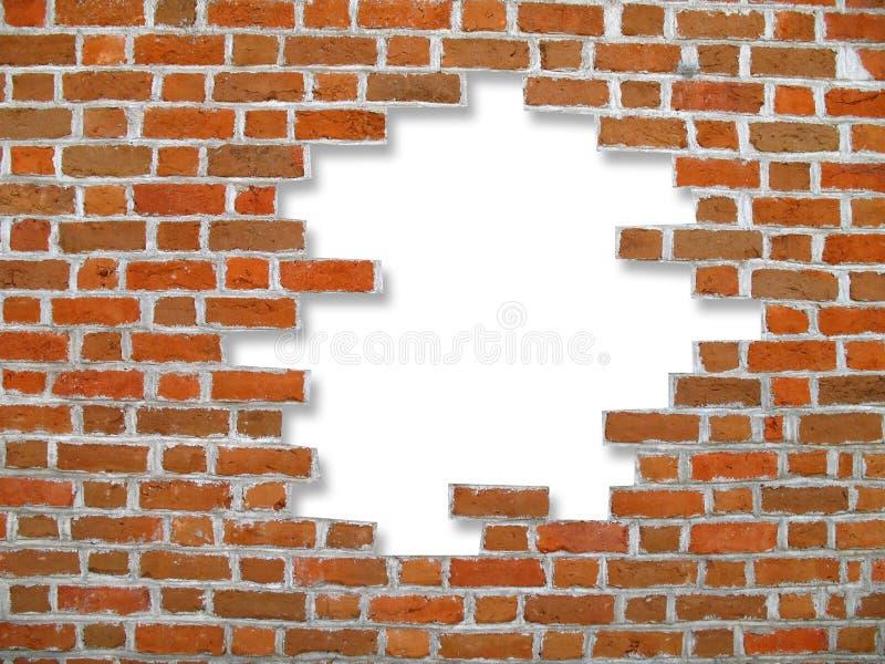 Parede e fundo de tijolo imagem de stock
