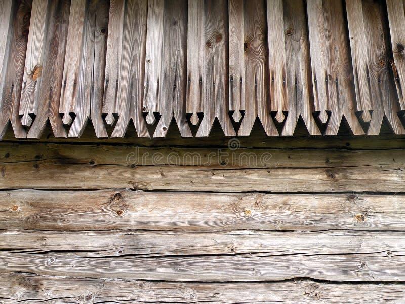 Parede e telhado de madeira imagem de stock royalty free
