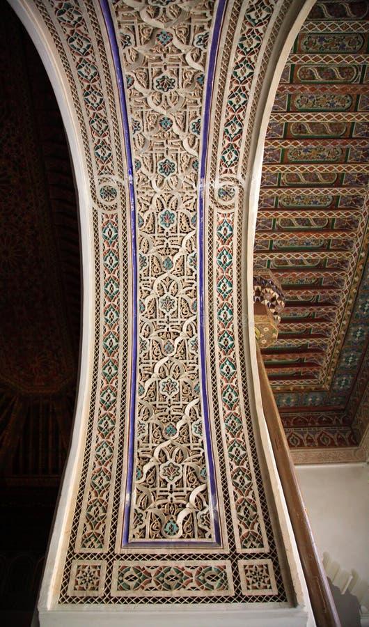 Parede e teto decorativos do palácio fotografia de stock royalty free