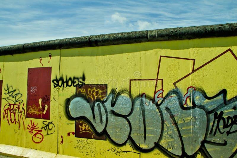 A parede em Berlim fotografia de stock