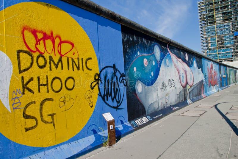 A parede em Berlim imagens de stock