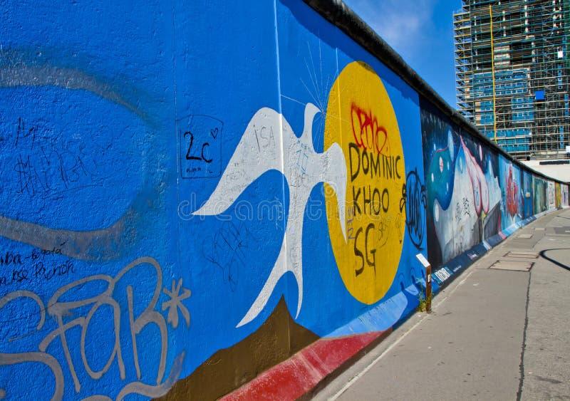 A parede em Berlim imagens de stock royalty free