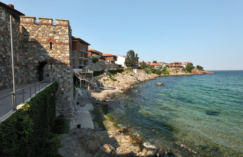 Parede em Sozopol, Bulgária do Fortification fotos de stock royalty free