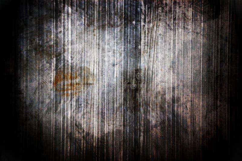 Parede escura do metal do grunge foto de stock royalty free