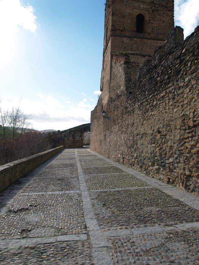 Parede espanhola da fortaleza imagem de stock royalty free