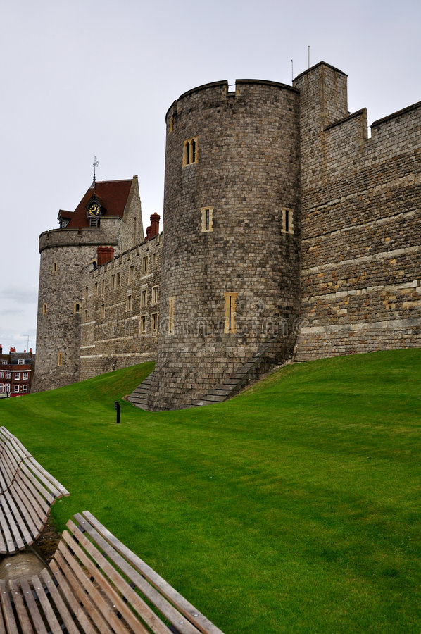 Parede exterior do castelo de Windsor imagem de stock royalty free