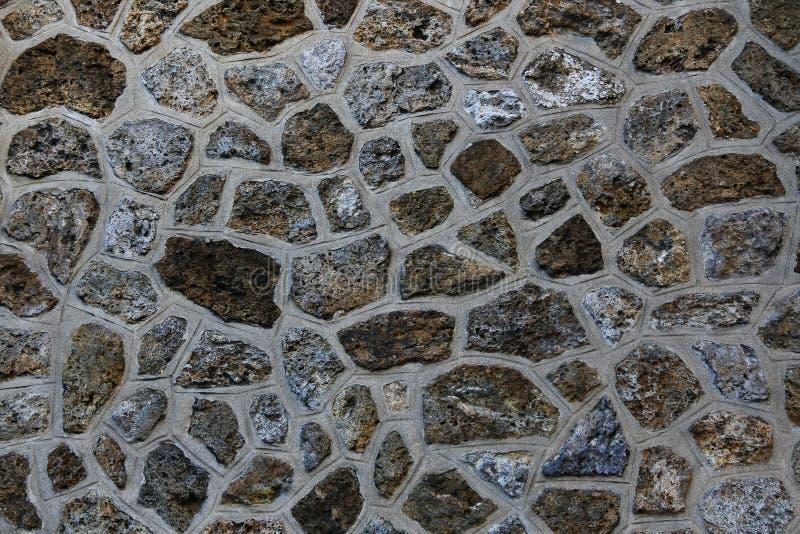 Parede feita das rochas fotografia de stock royalty free