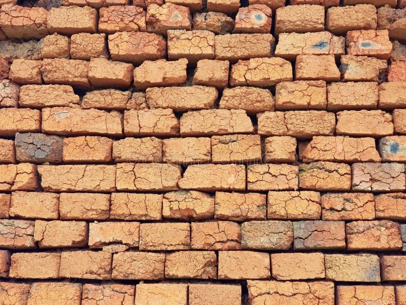 Parede feita dos tijolos como o fundo fotos de stock royalty free