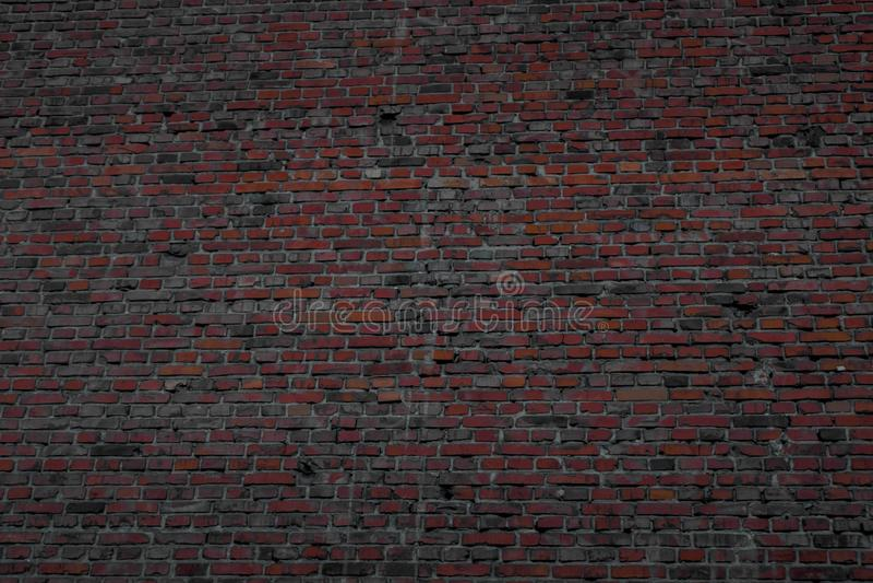 Parede forte feita de tijolos cozidos imagem de stock royalty free