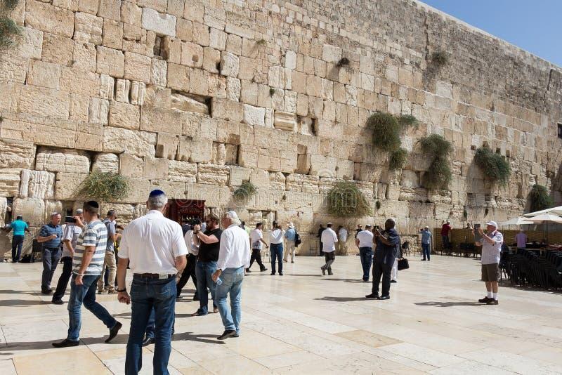 Parede lamentando no Jerusalém, Israel fotos de stock royalty free