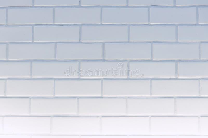 Parede limpa branca da textura do tijolo do retângulo para o fundo: Abstra imagens de stock