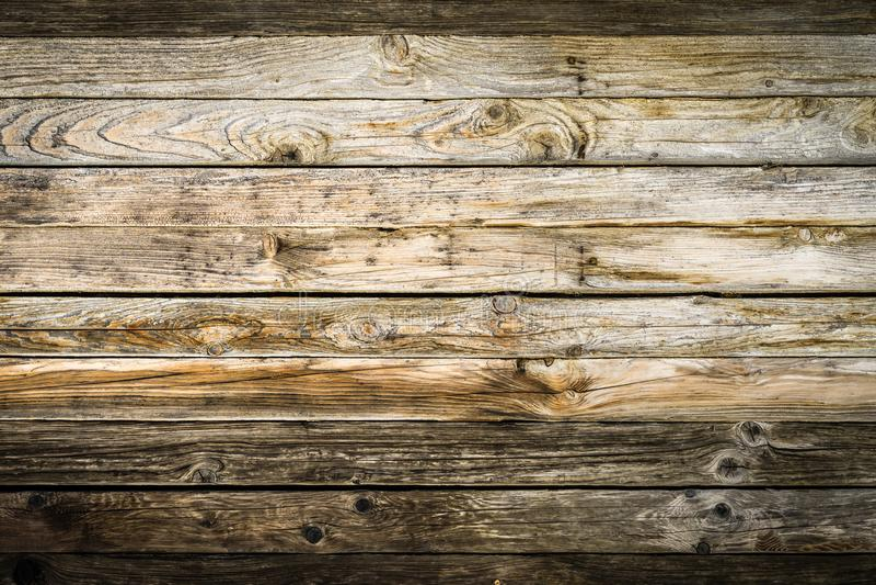 Parede marrom natural velha da madeira do celeiro Teste padrão textured de madeira do fundo fotografia de stock