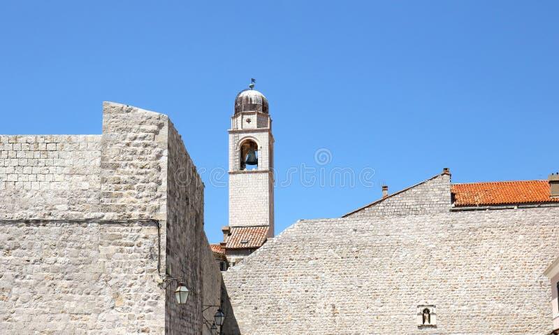 Parede medieval da cidade da cidade velha Dubrovnik, Croatia fotos de stock