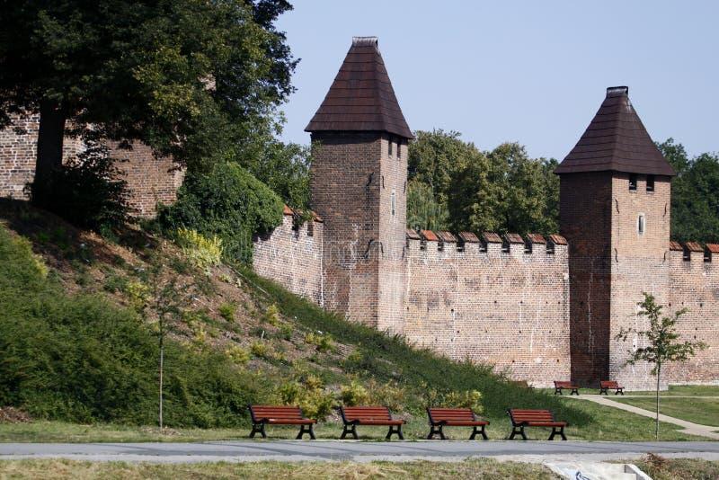 Parede medieval em Nymburk foto de stock royalty free