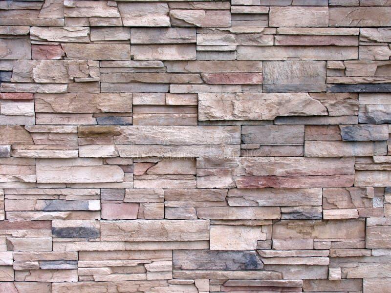 parede Multi-tonificada da pedra decorativa fotos de stock