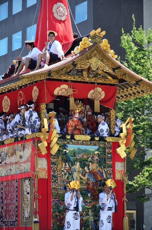 Parede no verão, Kyoto Japão do matsuri de Gion fotografia de stock royalty free